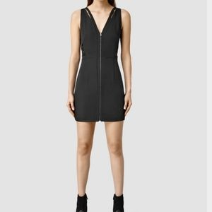 All Saints Layton Dress | Black | 4